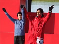2014年1月1日に群馬県で行われたニューイヤー駅伝。1区の入場セレモニー。